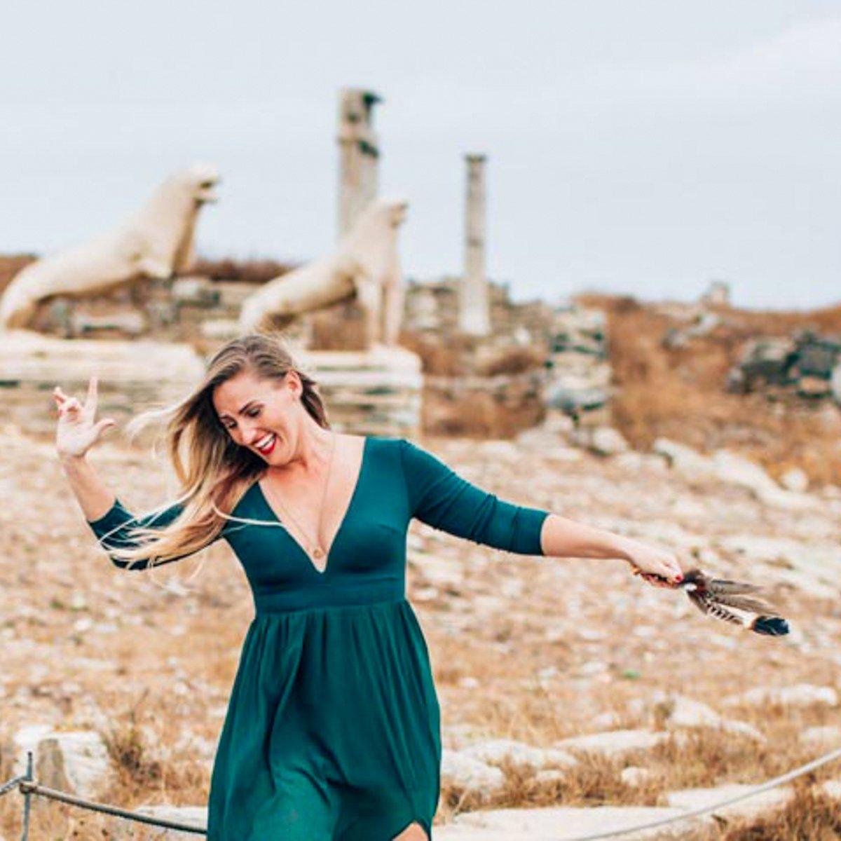 Dancing shaman in Greece